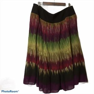 J M Collection Tribal Beat Multicolored Skirt